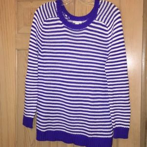 NWOT Forever 21 Blue and White striped sweater